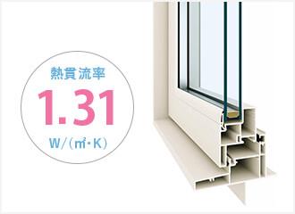 [樹脂]+[Low-E複層ガラス]で実現した国内最高レベルの断熱性